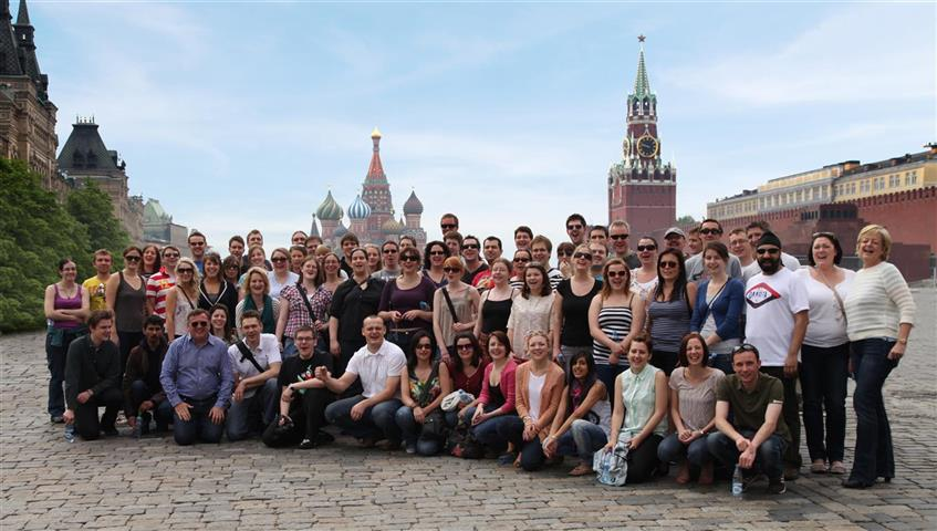 ASLA Travel Group - One of our group on Moscow's Red Square